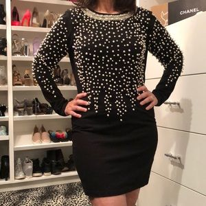 Asos Stretch Pearl Embellished Dress